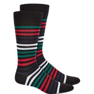 Alfani Men's Variegated Stripe Socks 2 pairs